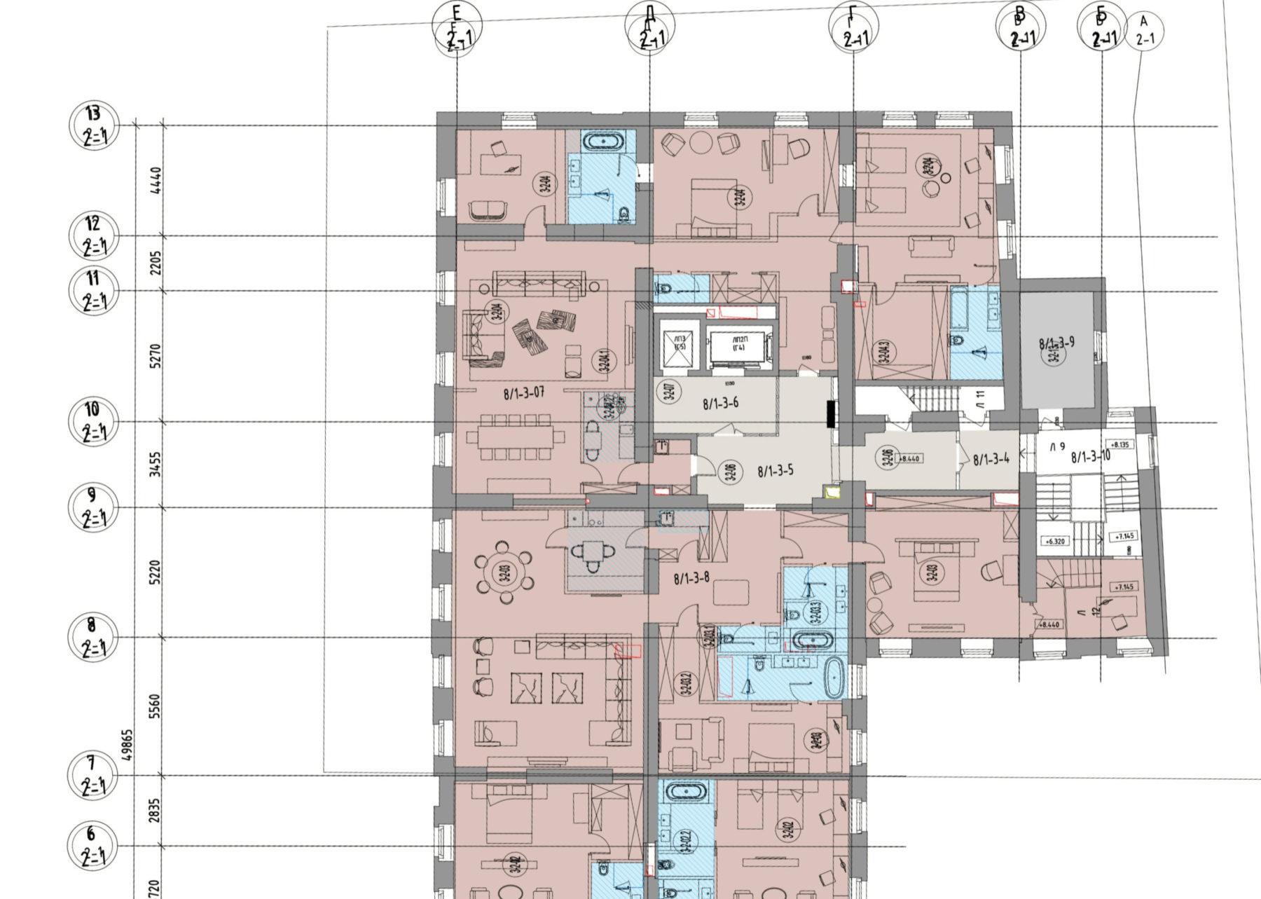Перепланировка больших квартир